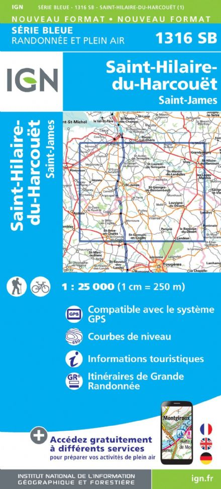 IGN 1316 SB - St-Hilaire-du-Harcouët / St-James